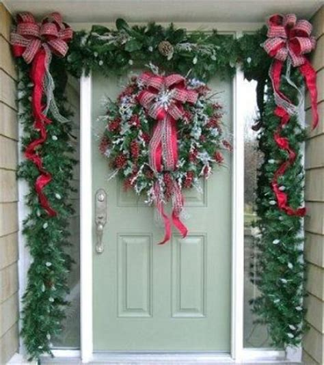 christmas door decorations with bows christmas decor pinterest in the corner entry ways