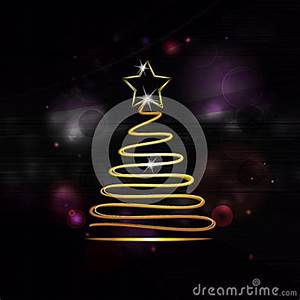Neon Gold Christmas Tree Stock Image Image