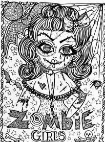 Scary Halloween Books For Adults by Halloween Fille Zombie Halloween Coloriages Difficiles