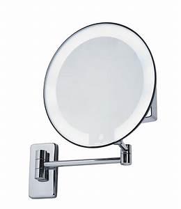 Miroir Rond Lumineux : miroir grossissant lumineux rond jvd cosmos noir ~ Zukunftsfamilie.com Idées de Décoration