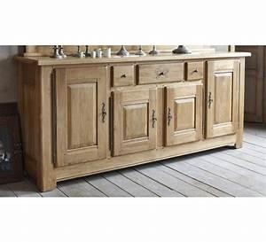 grand bahut chene massif 3587 With meubles de rangement salon 2 tables chaises claustras buffet meuble de rangement