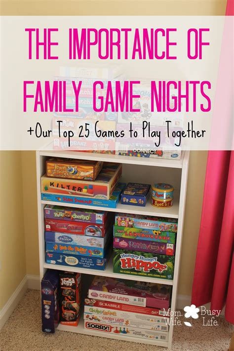 importance  family game nights  top  games