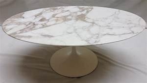Table Marbre Ovale : table en marbre ovale awesome table tulipe ovale en marbre blanc eero saarinen knoll with table ~ Teatrodelosmanantiales.com Idées de Décoration