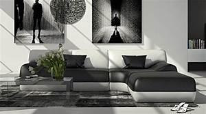 Ecksofa 220 X 160 : sam design ecksofa sofagarnitur impulso rechts in schwarz wei 260 x 220 cm couch komplett ~ Markanthonyermac.com Haus und Dekorationen