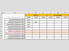 Creare un calendario personalizzato con Excel Come