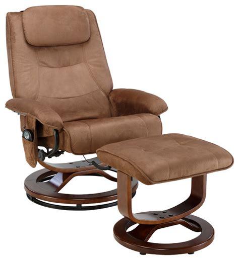 relaxzen deluxe padded microfiber recliner brown