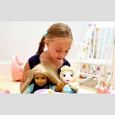 Playing With My American Girl Doll, And Elsa! Youtube