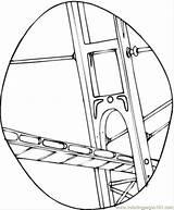 Bridge Coloring Construction Structures Coloringpages101 Printable Popular sketch template