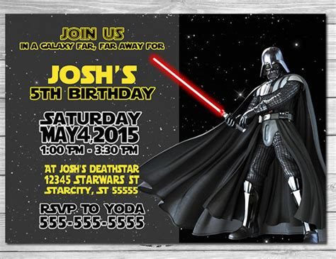 star wars birthday party invitations psd vector eps