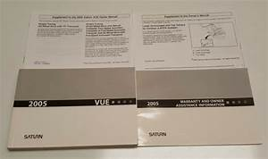 2005 Saturn Vue Owners Manual Operator User Guide Base Cvt
