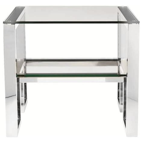benches for bedroom yves regency polished stainless steel side end 10816