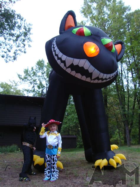 extreme halloween yard display two story inflatable