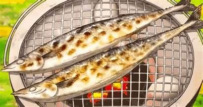 Anime Fish Grilled Ova Souma Shokugeki Yummy