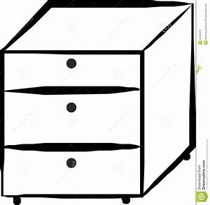 Cabinet With Drawers Stock Illustration - Image: 51503370