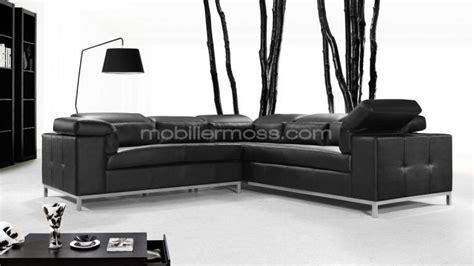 canapé cuir noir design photos canapé d 39 angle cuir noir design