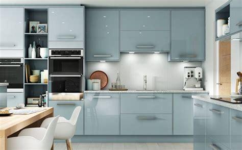 Esker Azure Gloss Kitchen   Wickes.co.uk