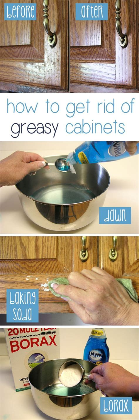 clean grease  kitchen cabinet doors stains