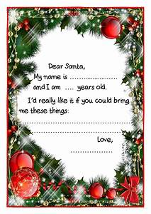 printable example santa claus short letter black white With noel letters christmas decoration