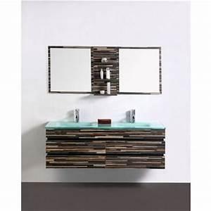 Meuble Salle De Bain Double Vasque Pas Cher : photo meuble salle de bain double vasque pas cher ~ Teatrodelosmanantiales.com Idées de Décoration