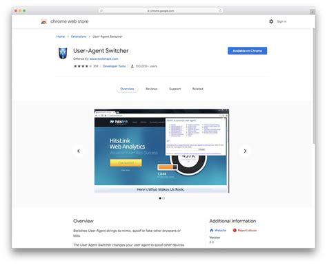 chrome agent user extensions designers web switcher colorlib google