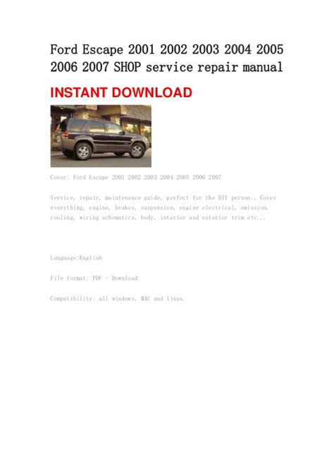 encontra manual  ford escape owners manual