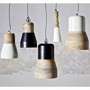 Suspension Luminaire Bois : suspension bois m tal salt and pepper big par ~ Teatrodelosmanantiales.com Idées de Décoration