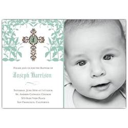 bridal luncheon invitations templates cross trellis boy photo baptism invitations paperstyle