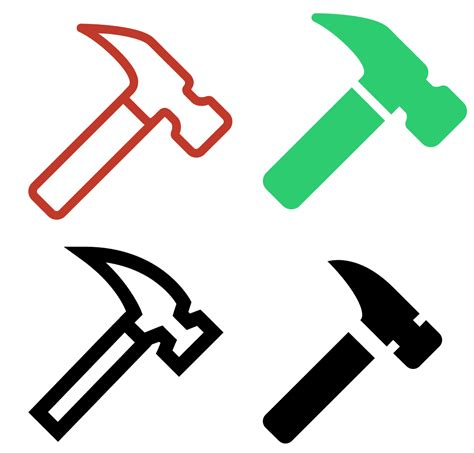 hammer icon free download png and vector