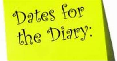 Diary Dates Clip Clipart Gathering Upcoming Updated