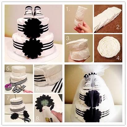 Diaper Cake Step Instructions Tutorial Bolo Fraldas
