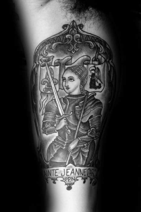 joan  arc tattoo designs  men saint ink ideas