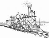 Train Coloring Steam Railroad Amazing sketch template
