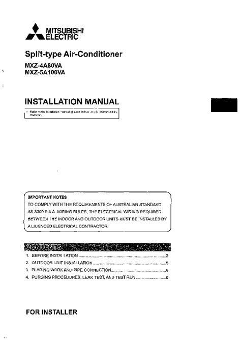 Mitsubishi Air Conditioner Installation by Mitsubishi Mxz 4a80va Mxz 5a100va Air Conditioner