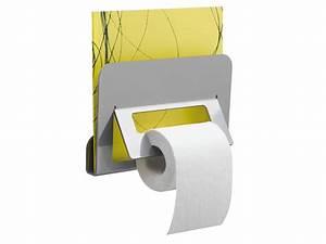 Porte Revue Wc : trinium distributeur papier wc et porte revue gris mat ~ Teatrodelosmanantiales.com Idées de Décoration