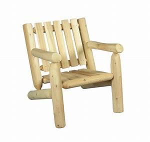 Fauteuil En Bois : fauteuil en bois de c dre blanc dossier bas c dre rondins ~ Teatrodelosmanantiales.com Idées de Décoration