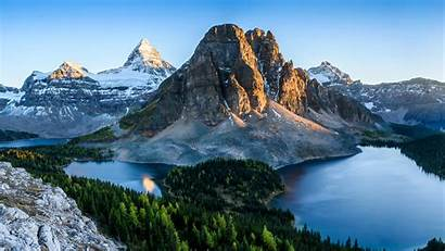 Canada Mountains Nature Lake Banff Parks Forests