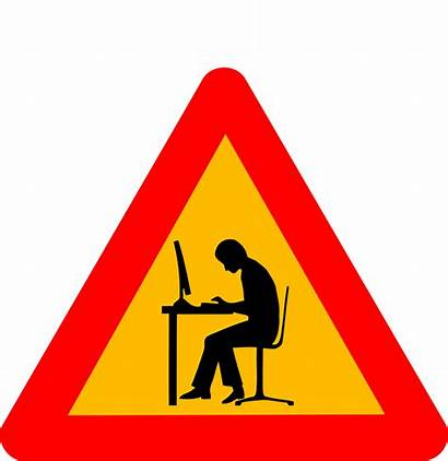 Geek Warning Clipart Caution Sign Svg