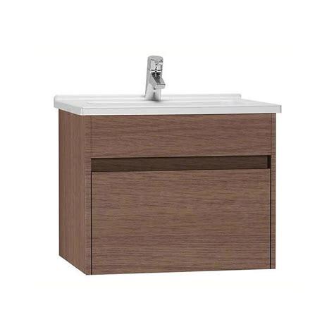 vitra  dark oak cm single drawer vanity unit basin