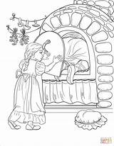Oven Coloring Witch Gretel Stove Door Into Pages Hansel Iron Herself Gets While Shuts Gingerbread Printable Illustration Drawing Tastes Roof sketch template