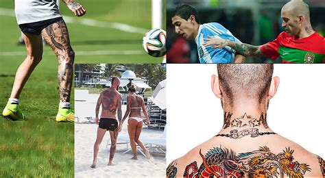 top  tattooed footballers fifa world cup