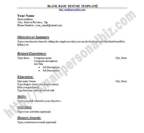 resume exle blank resume to print free easy resume