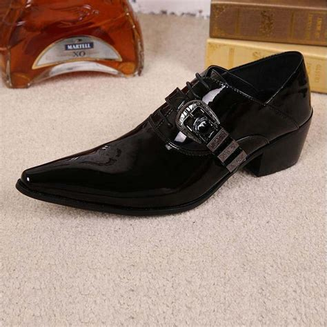 fashion luxury mens patent leather shoes genuine leather
