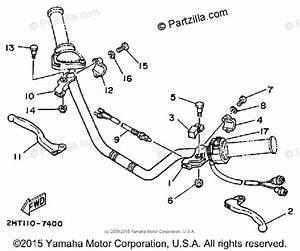 Yamaha Atv 1987 Oem Parts Diagram For Handle Switch