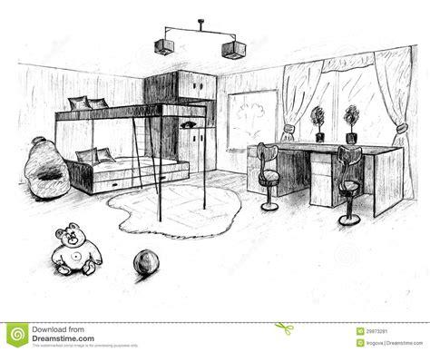 croquis chambre a coucher croquis graphique d 39 une chambre à coucher intérieure image