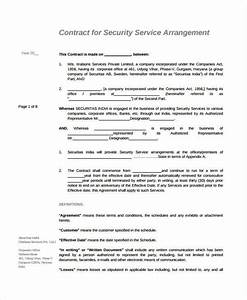 service agreement 9 free pdf word documents download With security company contract template