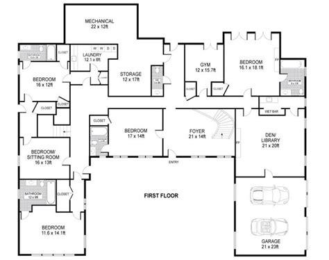 shaped house plans single level home ideas floor