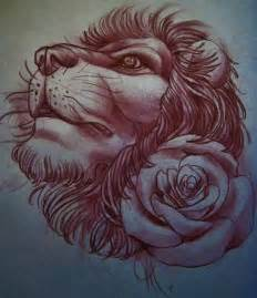 Lion Tattoo Flash