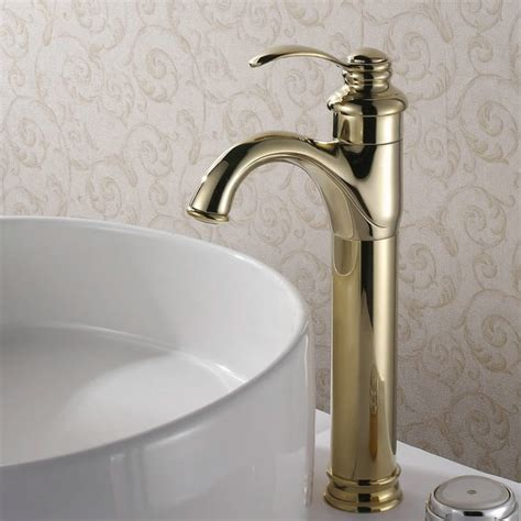 Brass Sink Taps Bathroom by Classic Solid Brass Bathroom Sink Tap Ti Pvd Finish
