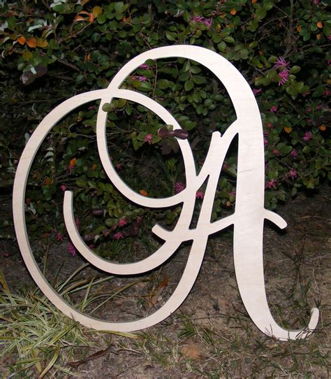 large wooden wall letters monogram letters