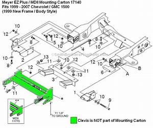 Meyer Ez Plus Or Mdii 17140 Mounting Carton 1999